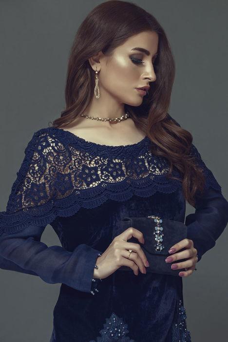 Deep blue velvet